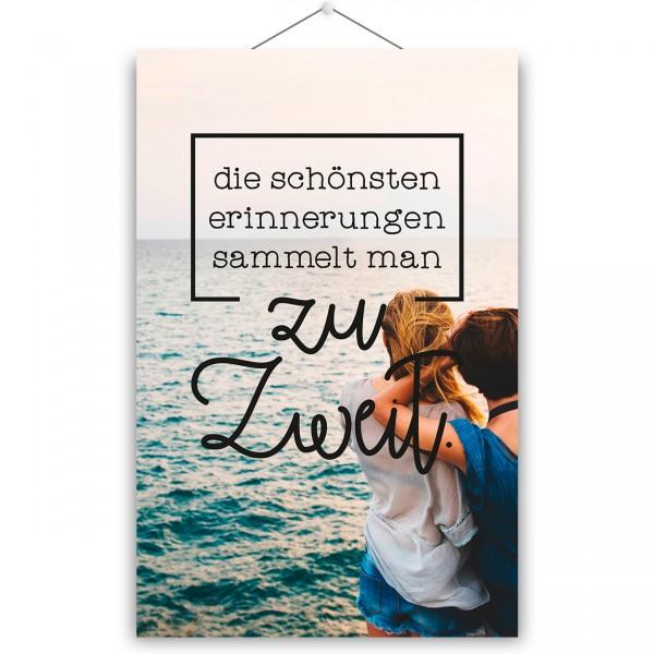 """Poster """"ZU ZWEIT"""""""