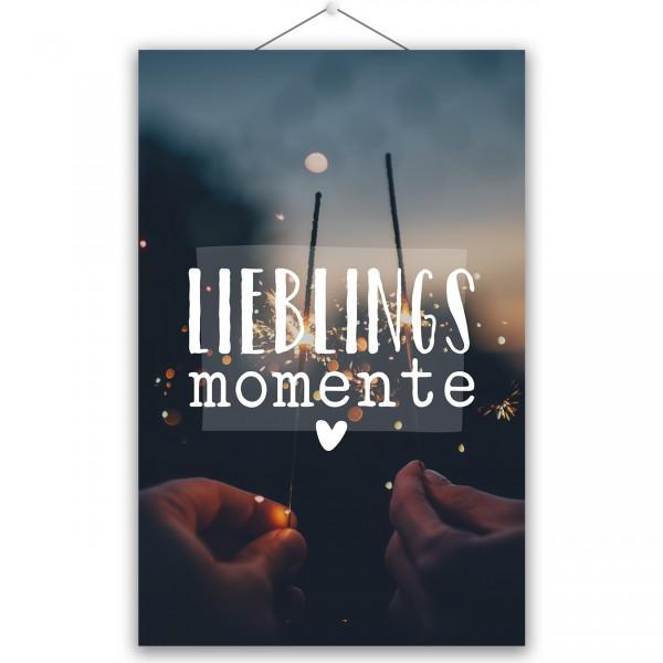 "Poster ""LIEBLINGSMOMENTE"""
