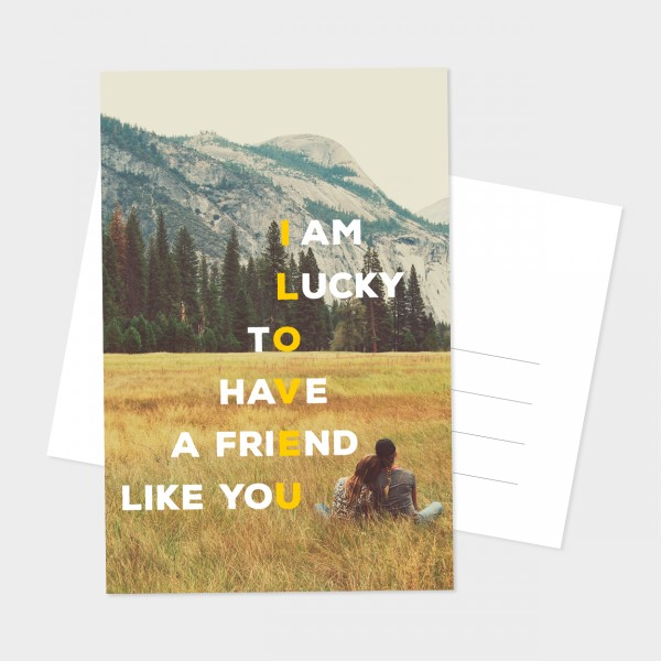 "Postkarte ""A FRIEND LIKE YOU"""