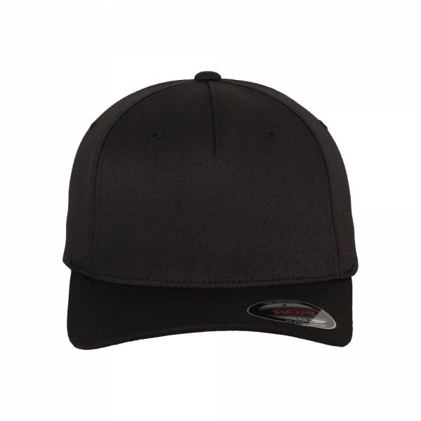 Flexfit 5 Panel Baseball Cap 6560 S/M - black