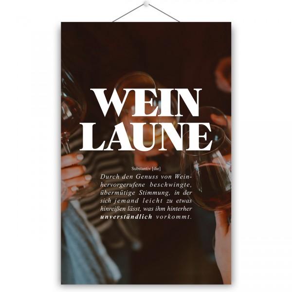 "Poster ""WEINLAUNE"""