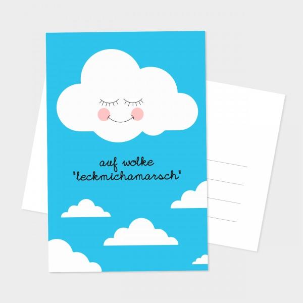 "Postkarte ""AUF WOLKE"""