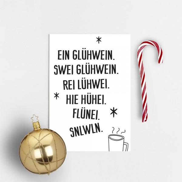 """Postkarte """"EIN GLÜHWEIN"""""""