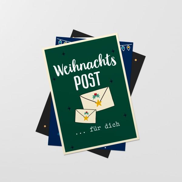 """Postkarten-Set """"WEIHNACHTSPOST"""""""