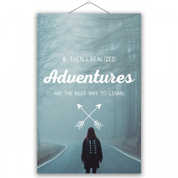"Poster ""ADVENTURES"""