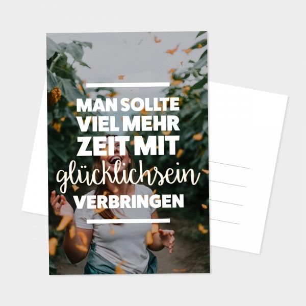 """Postkarte """"VIEL MEHR ZEIT"""""""