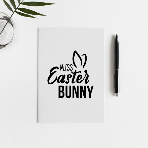 MISS EASTER BUNNY Postkarte