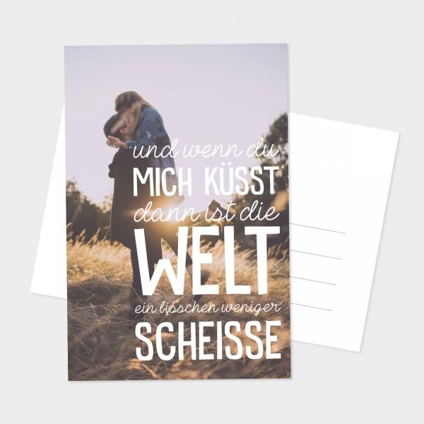 """Postkarte """"WENN DU MICH KÜSST"""""""