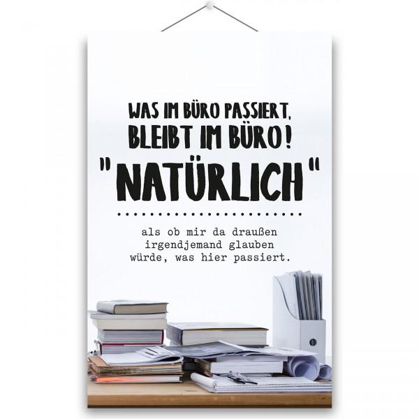 "Poster ""WAS IM BÜRO PASSIERT"""