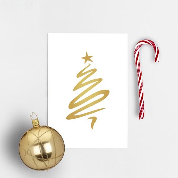 Postkarte Weihnachten WEIHNACHTSBAUM