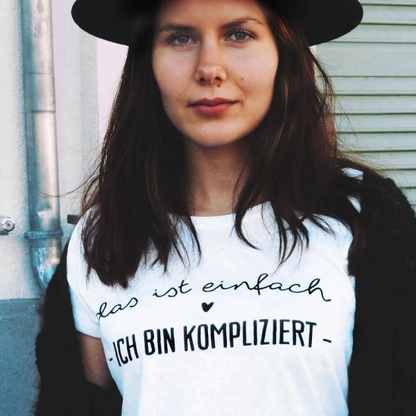 """Shirt """"KOMPLIZIERT"""""""