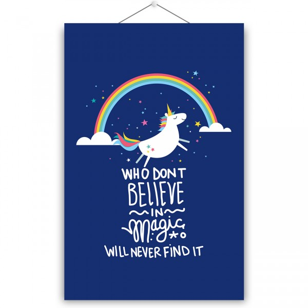 "Poster ""BELIEVE IIN MAGIC"""