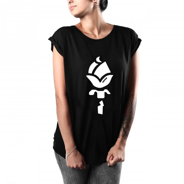 Shirt ROSE Frauen Schwarz