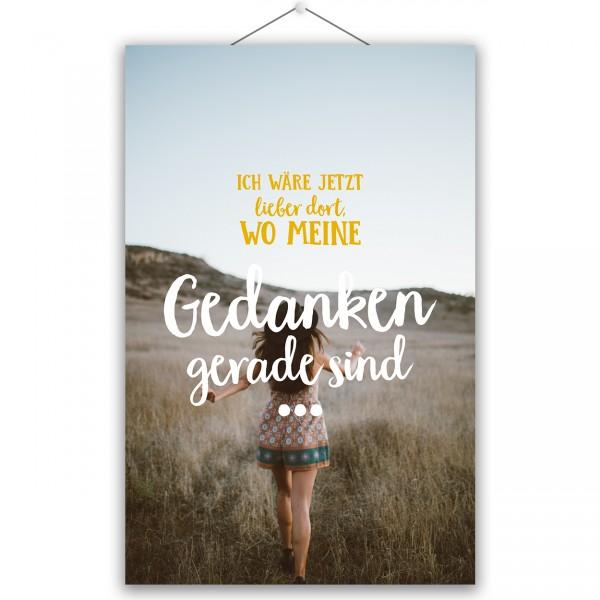 """Poster """"MEINE GEDANKEN"""""""