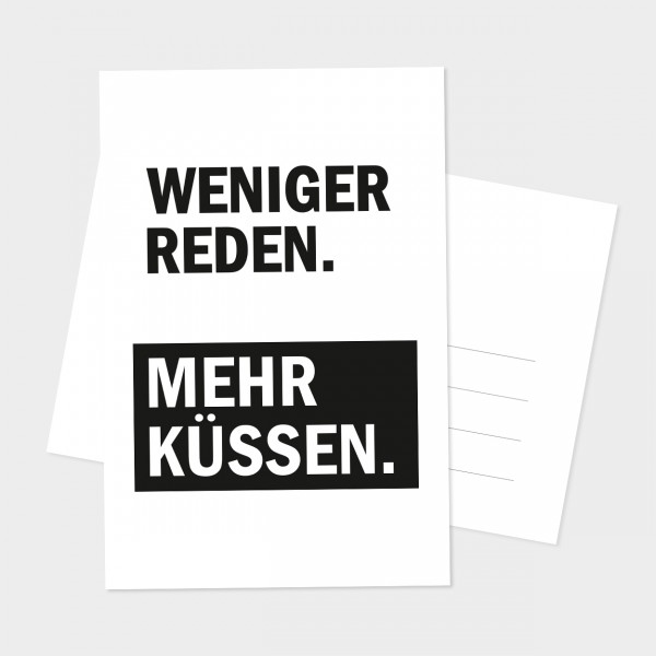 """Postkarte """"MEHR KÜSSEN"""""""