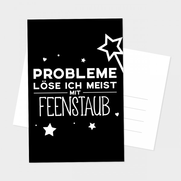 "Postkarte ""FEENSTAUB"""