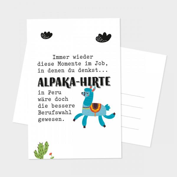 """Postkarte """"ALPAKA-HIRTE"""""""