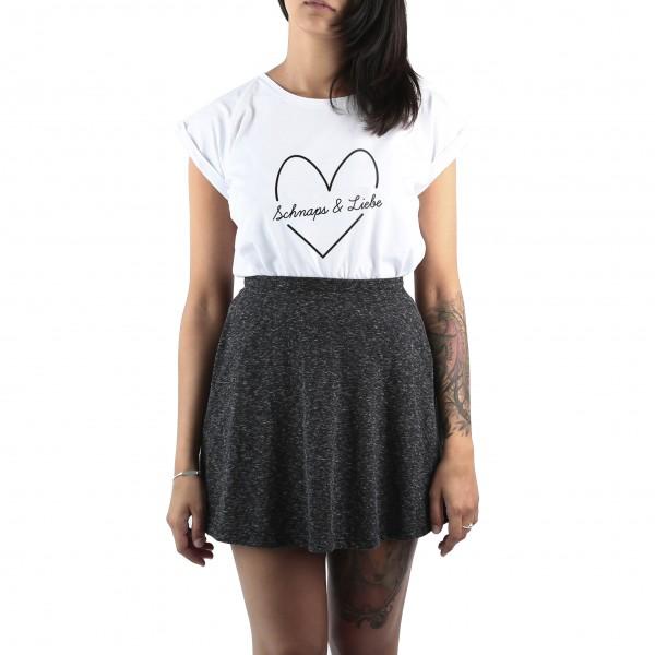 """Shirt """"SCHNAPS & LIEBE"""" weiß"""