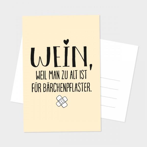 """Postkarte """"BÄRCHENPFLASTER"""""""