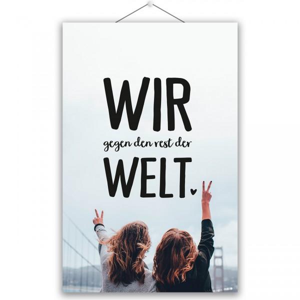 "Poster ""WIR GEGEN DEN REST"""