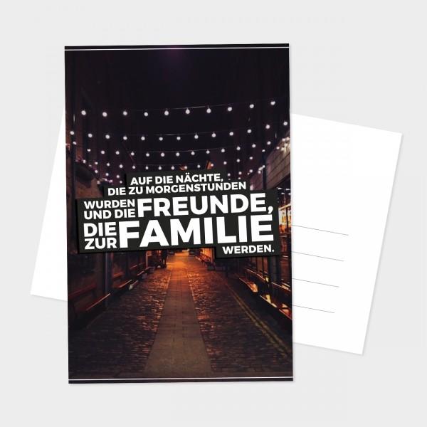 """Postkarte """"AUF DIE NÄCHTE"""""""