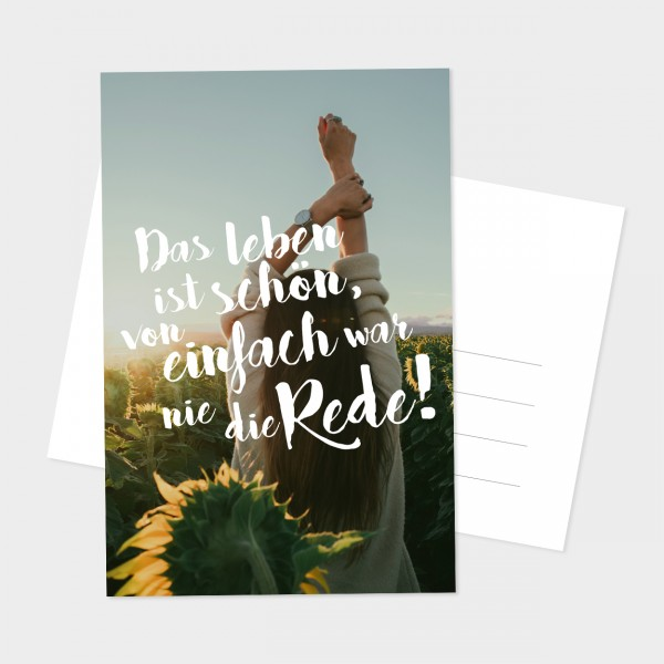 "Postkarte ""DAS LEBEN"""
