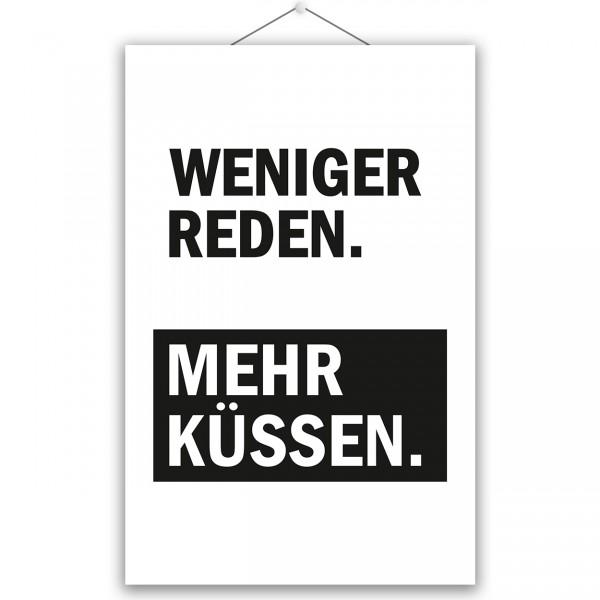 """Poster """"MEHR KÜSSEN"""""""