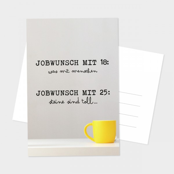 "Postkarte ""JOBWUNSCH"""