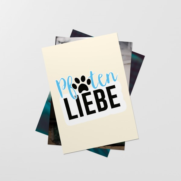 "Postkarten-Set ""PFOTENLIEBE"""