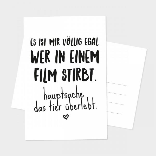 """Postkarte """"DAS TIER"""""""