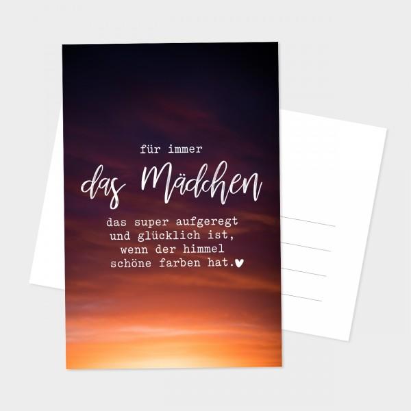 """Postkarte """"DAS MÄDCHEN"""""""