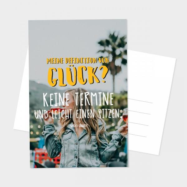 "Postkarte ""DEFINITION GLÜCK"""
