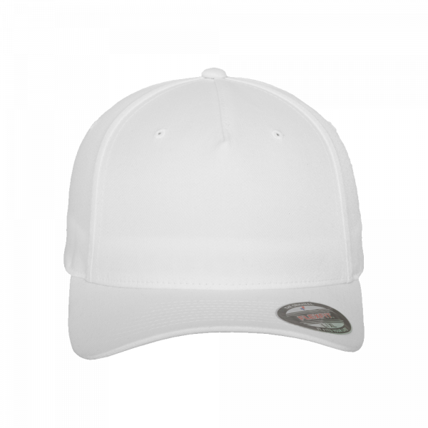 Flexfit 5 Panel Baseball Cap 6560 S/M – white