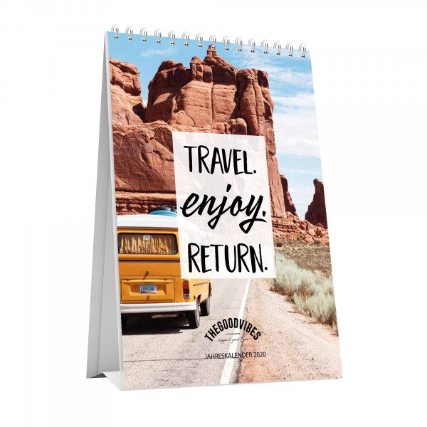 "Tischkalender 2020 ""TRAVEL"""
