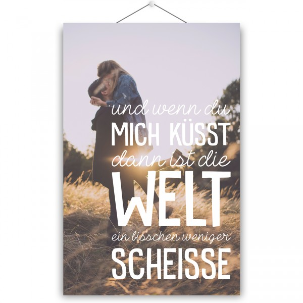 """Poster """"WENN DU MICH KÜSST"""""""