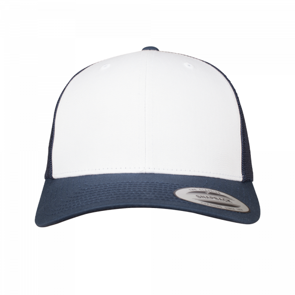 Flexfit Retro Trucker Colored Front 6606CF - Navy-White-Navy