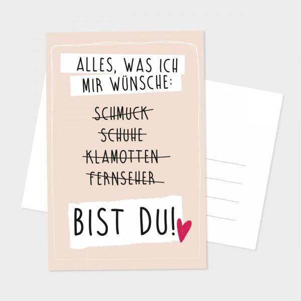 """Postkarte """"BIST DU"""""""