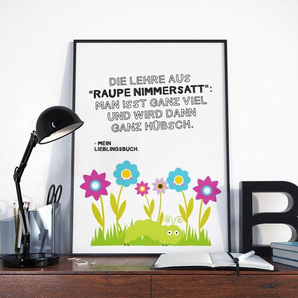 """Motiv """"RAUPE NIMMERSATT"""""""