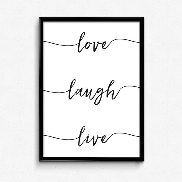 Motiv LOVE LAUGH LIVE
