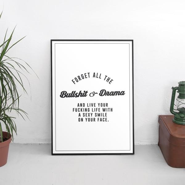 Motiv BULLSHIT & DRAMA