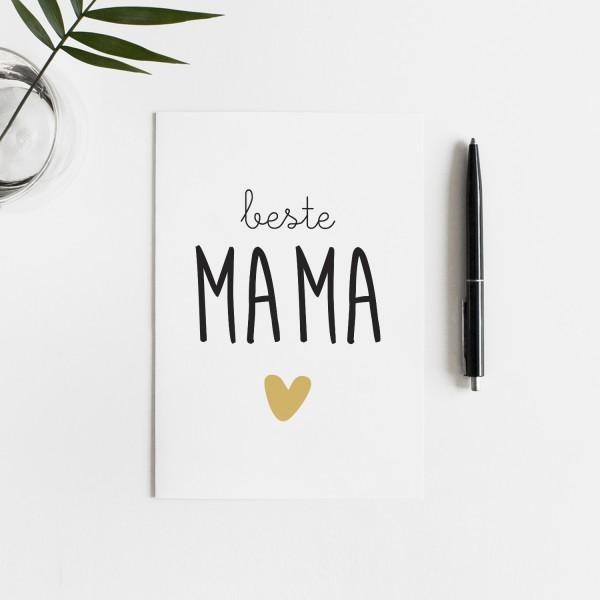 Postkarte BESTE MAMA