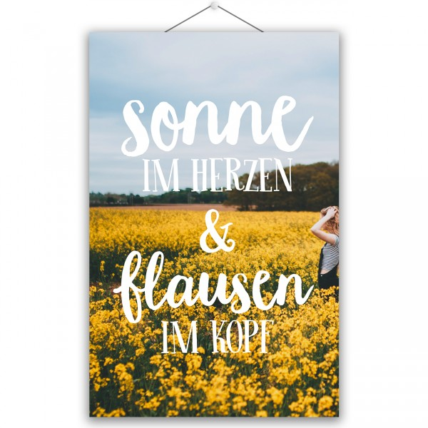 "Poster ""SONNE & FLAUSEN"""
