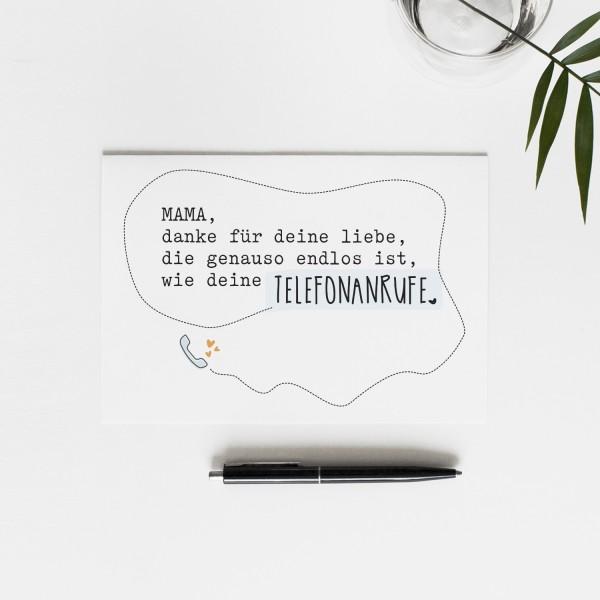 Postkarte MAMA' S TELEFONANRUFE