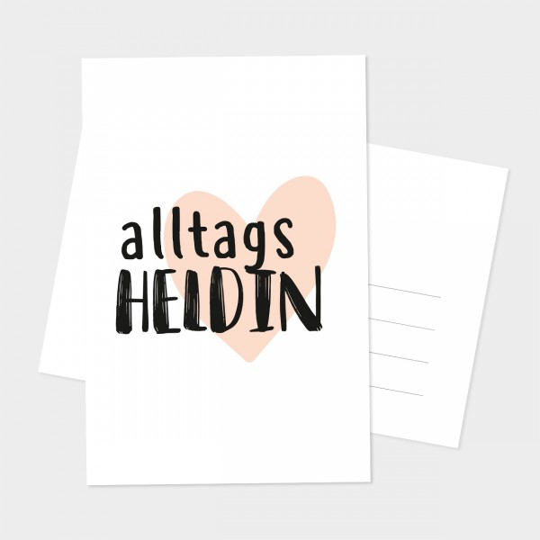 "Postkarte ""ALLTAGSHELDIN"""