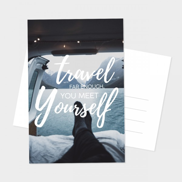 "Postkarte ""TRAVEL FAR ENOUGH"""