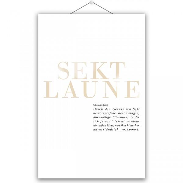 """Poster """"SEKTLAUNE"""""""