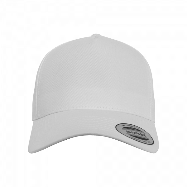 Flexfit 5-Panel Curved Classic Snapback 7707 - white