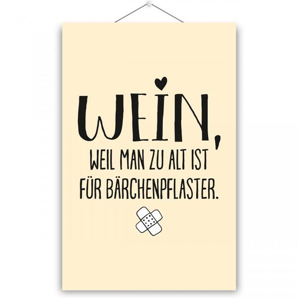 """Poster """"BÄRCHENPFLASTER"""""""