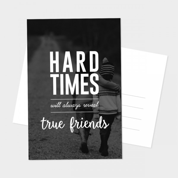 "Postkarte ""TRUE FRIENDS"""