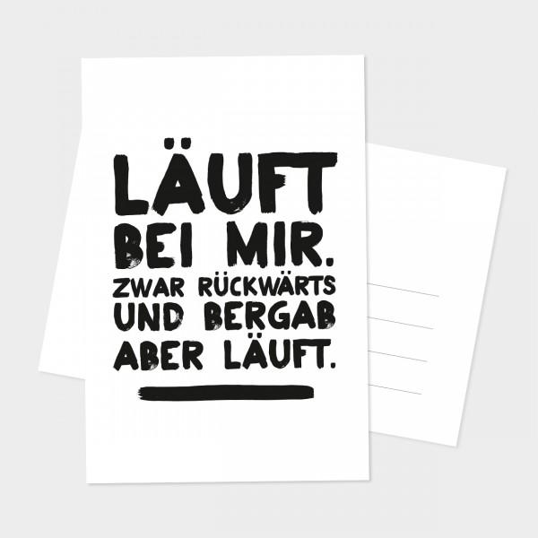 "Postkarte ""LÄUFT BEI MIR"""